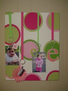 Awesome idea for a picture or bullitin board.- cute, easy and inexpensive craft!