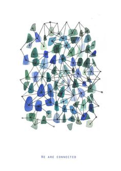 We are connected  Fine Art Print  Sea Glass and by LouisestArt, $20.00