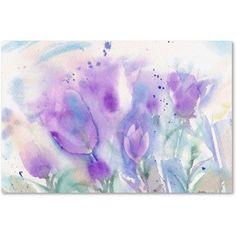 Trademark Fine Art Purple Blues Canvas Art by Sheila Golden, Size: 30 x 47, Purple