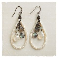 Try some earrings with pearl loops like this.