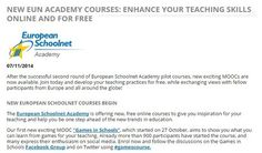 NEW EUN ACADEMY COURSES: ENHANCE YOUR TEACHING SKILLS ONLINE AND FOR FREE | 21st Century Learning and Teaching | Scoop.it