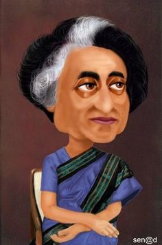 Cartoon: Indira Gandhi by Senad