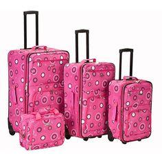 Rockland Designer Pearl Expandable 4-piece Luggage Set