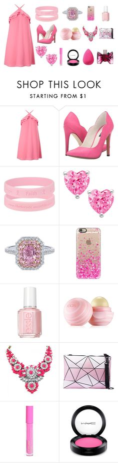 """""""Pink Out"""" by cupcakegrl12 ❤ liked on Polyvore featuring Miss Selfridge, Michael Antonio, Casetify, Essie, Eos, L.A. Colors, MAC Cosmetics, beautyblender, Viktor & Rolf and pinkout2016"""