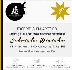 """1º Premio otorgado en el Concurso Internacional de Arte """"Expertos en Arte FD"""""""