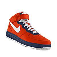 I designed the orange, dark blue and white Virginia Cavaliers Nike Air Force 1 Mid iD men's shoe.