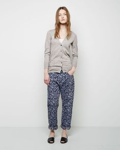 Isabel Marant Étoile / Obi Shawl Collar Cardigan Isabel Marant Étoile / Sefton Tank Isabel Marant Étoile / Maddy Embroidered Boyfriend Jeans #ps14 #ss14