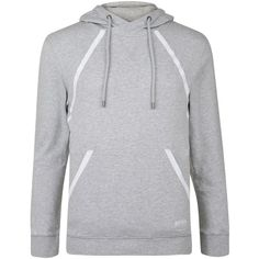 Boss Bodywear Hooded Sweat Top (135 NZD) ❤ liked on Polyvore featuring tops, hoodies, grey, hooded tops, light weight hoodies, holiday tops, boss hugo boss and grey top