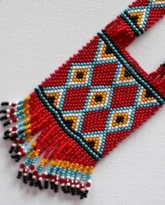 Native American style tribal necklace in by MontanaTreasuresbyMJ