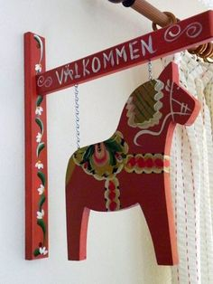 need this for my porch - Dala horse, Sweden . . . I used to collect the Dala roosters . . .still love them