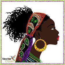 Resultado de imagen para vectores siluetas rostros africanas African Girl, African Beauty, African Women, Black Women Art, Black Art, African Art Paintings, Cuban Art, Art Africain, Africa Art