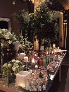 Mesa de Dulces con velas