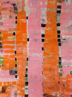 """""""Pink is the New Orange,"""" original abstract painting by artist Michele Tragakiss (USA) available at Saatchi Art Paint Photography, Abstract Photography, Colorful Paintings, Paintings For Sale, Colourful Art, Pink Abstract, Abstract Art, Abstract Paintings, Abstract Expressionism"""