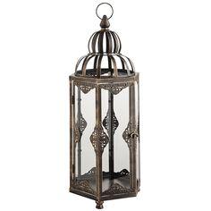 Black Sahara Lantern - Large | Pier 1 Imports