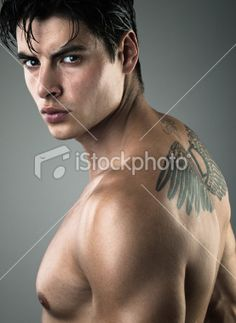 handsome man with tattoo Royalty Free Stock Photo