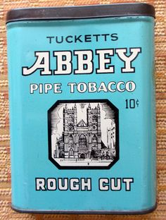 Abbey vertical pocket tobacco tin. sold