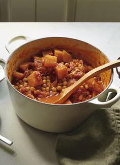 This delicious apple, butternut and chickpea curry is made using seasonal fruit and vegetables for a warming, hearty meal.