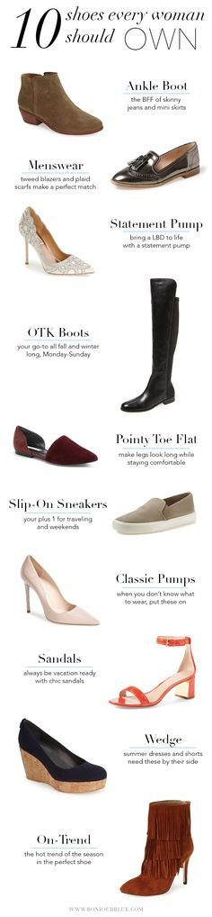 { 10 Shoes Every Woman Should Own - Bonjour Blue }
