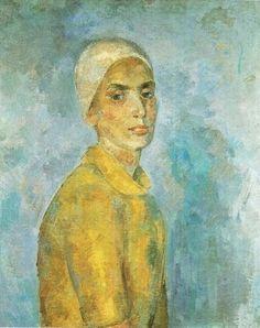 "urgetocreate: "" Robert Falk, Woman in a Yellow Blouse, 1944 """