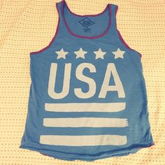 USA Tank Top Altru Apparel USA tank top from Urban Outfitters. Perfect tank for a fun day party, 4th of July, a workout, or just a regular tank! 100% cotton. Good condition and suuuuuper soft! Urban Outfitters Tops Tank Tops