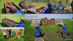 Leonardia! Park rozrywki oparty na pomysłach Leonarda da Vinci. Wszystkie gry są drewniane, ale emocji budzą więcej niż komputerowe.