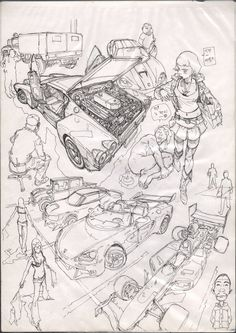 No. 21 Kim Jung, Car Drawings, Drawing Sketches, Pencil Drawings, Character Art, Character Design, Game Design, Copy Paper, How To Draw Hands