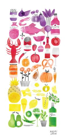 All the food organised neatly by colour. An organisational dream! You can buy a print HERE if you like.