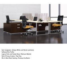 Furniture: Meeting desk and chairs set