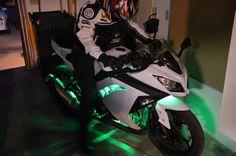 Black and Pink Ninja 250 | kawasaki ninja 300 led lights Kawasaki Ninja 300 Led Lights