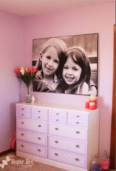 ask for a black and white engineering blueprint of your photo from Staples/Office Depot and your B pictures can be printed in large scale for around $5! mount on insulation board or decoupage onto canvas
