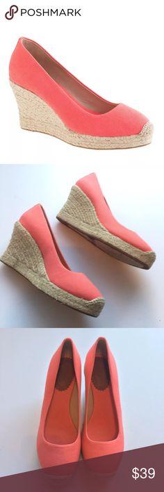 J crew Seville Espadrilles Wedges Shoes • excellent condition  • Size 7.5  • Canvas wedge J. Crew Shoes Espadrilles