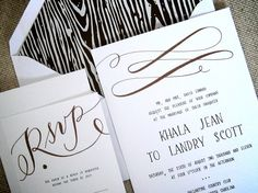 Woodgrain Invitation Suite