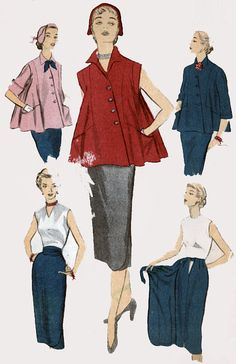 1950s Vintage Sewing Pattern Advance 5847 Womens by sandritocat