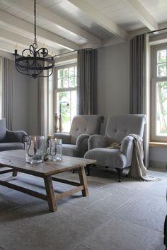 Landelijk interieur Modern Living Room, New Homes, Interior Design, House Interior, Home, Interior, Family Room, Home Deco, Home Decor