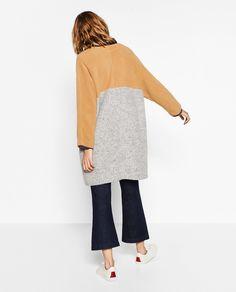 Image 1 of MULTICOLOURED PLUSH COAT from Zara