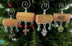 North Pole Wine Cork Christmas Ornaments. $25.00, via Etsy.