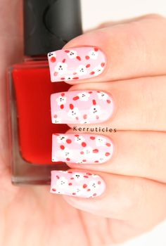 Pink, Red and White Mini Dotted Flowers | Kerruticles