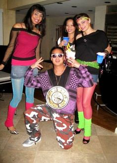 Great 80s party costume pics for ideas and inspiration!