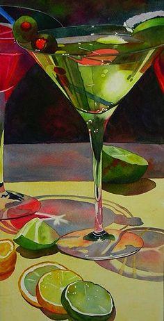 Olive Martini ~ Anne Abgott ~ Award-Winning Watercolour Artist