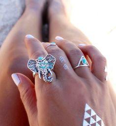 turquoise elephant ring