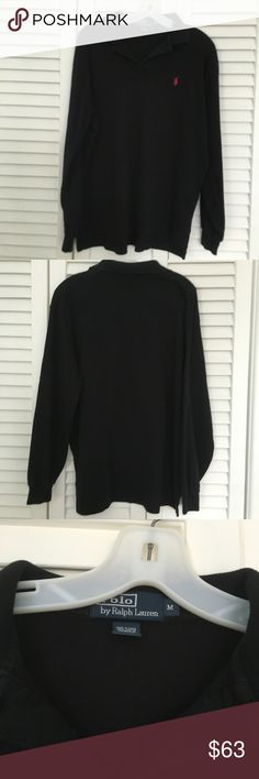 Polo Ralph Lauren long sleeve polo Mens Ralph Lauren  Polo  2 button long sleeve shirt Color Black size M. Perfect condition Polo by Ralph Lauren Shirts Polos