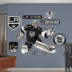 Fathead Los Angeles Kings Jonathan Quick Wall Decals, Multicolor