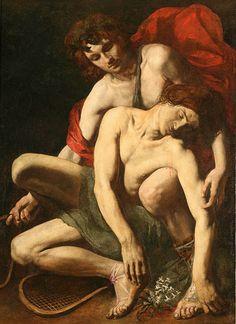 Italian School of Caravaggio, The Death of Hyacinth, 17th century