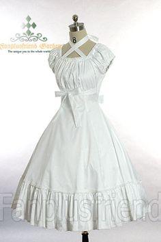 fanplusfriend - Dolly Gothic Lolita: Cross Straps Collar Shirred Bust Jumper, $77.25 (http://www.fanplusfriend.com/dolly-gothic-lolita-cross-straps-collar-shirred-bust-jumper/)