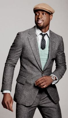#Dwayne Wade for GQ Magazine. Without the hat this outfit is great.