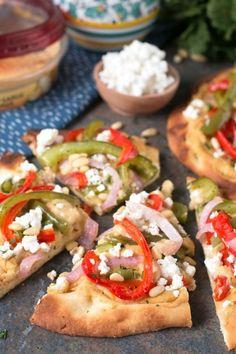 Garlic Hummus & Roasted Vegetable Grilled FlatbreadFollow  Mein Blog: Alles rund um Genuss & Geschmack  Kochen Backen Braten Vorspeisen Mains & Desserts!