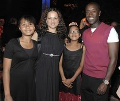 Don Cheadle Wife | Actor Don Cheadle, right, posed with his wife Bridgid Coulter and ...