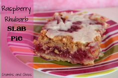 Raspberry Rhubarb Slab Pie