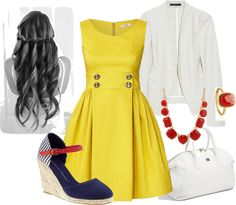 """""""Bright and Sunny"""" by hpbrat2 on Polyvore"""