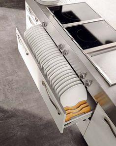 Schubladen Backoffen Aufewahrung System Küche gestalten
